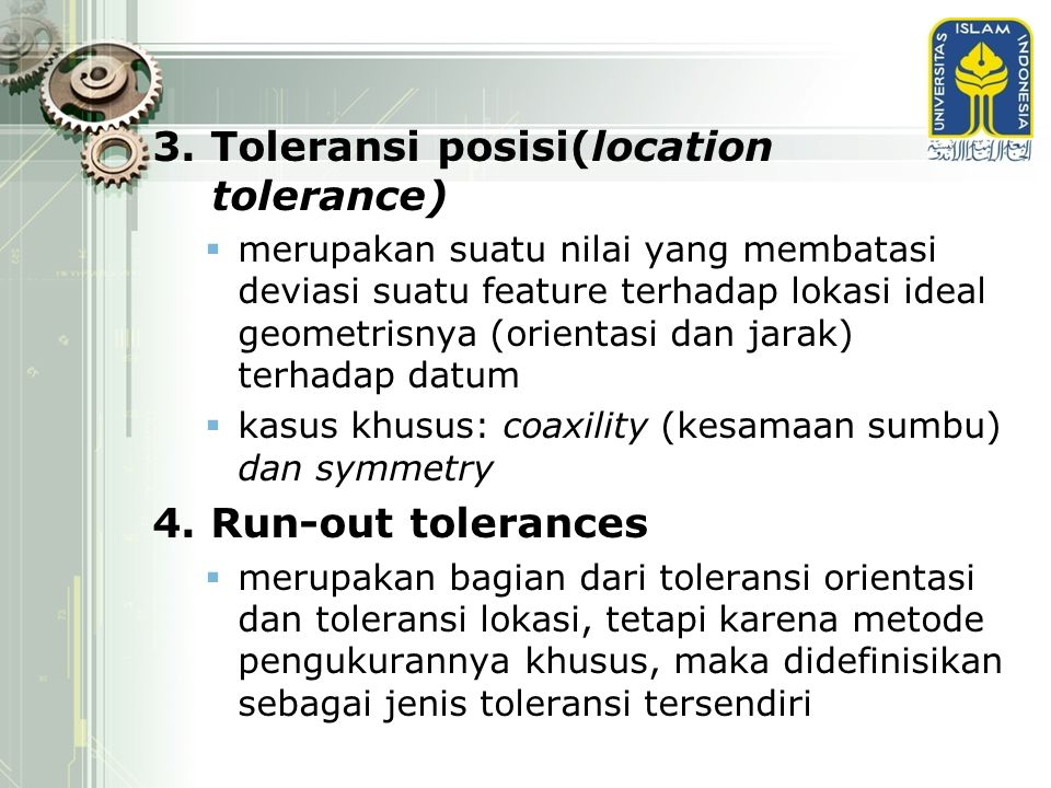 3. Toleransi posisi(location tolerance)