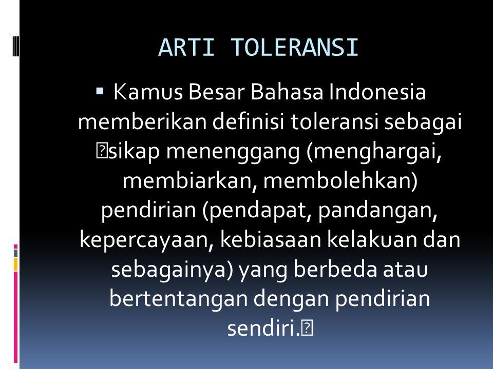 ARTI TOLERANSI
