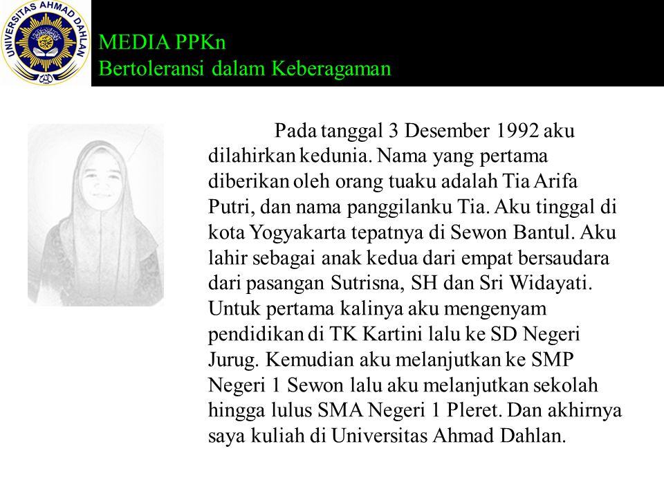 Pada tanggal 3 Desember 1992 aku dilahirkan kedunia