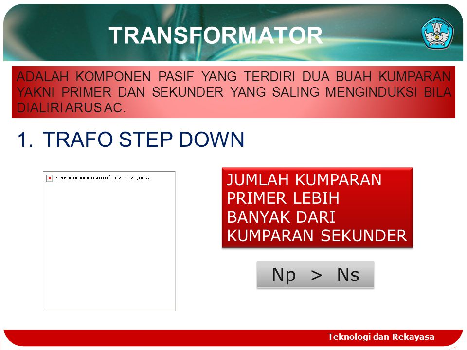 TRANSFORMATOR TRAFO STEP DOWN Np > Ns
