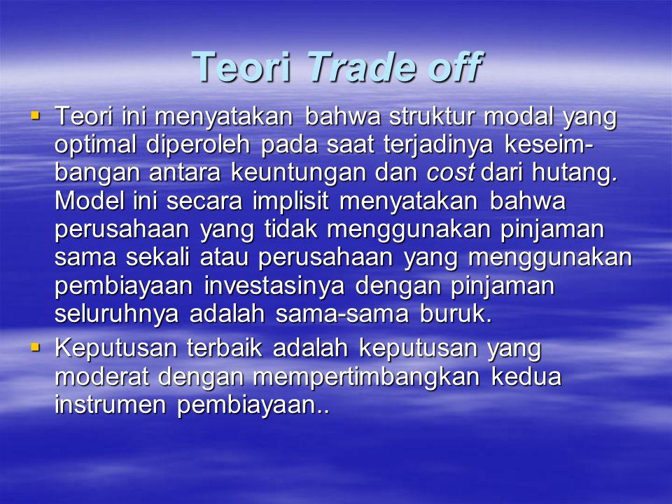 Teori Trade off