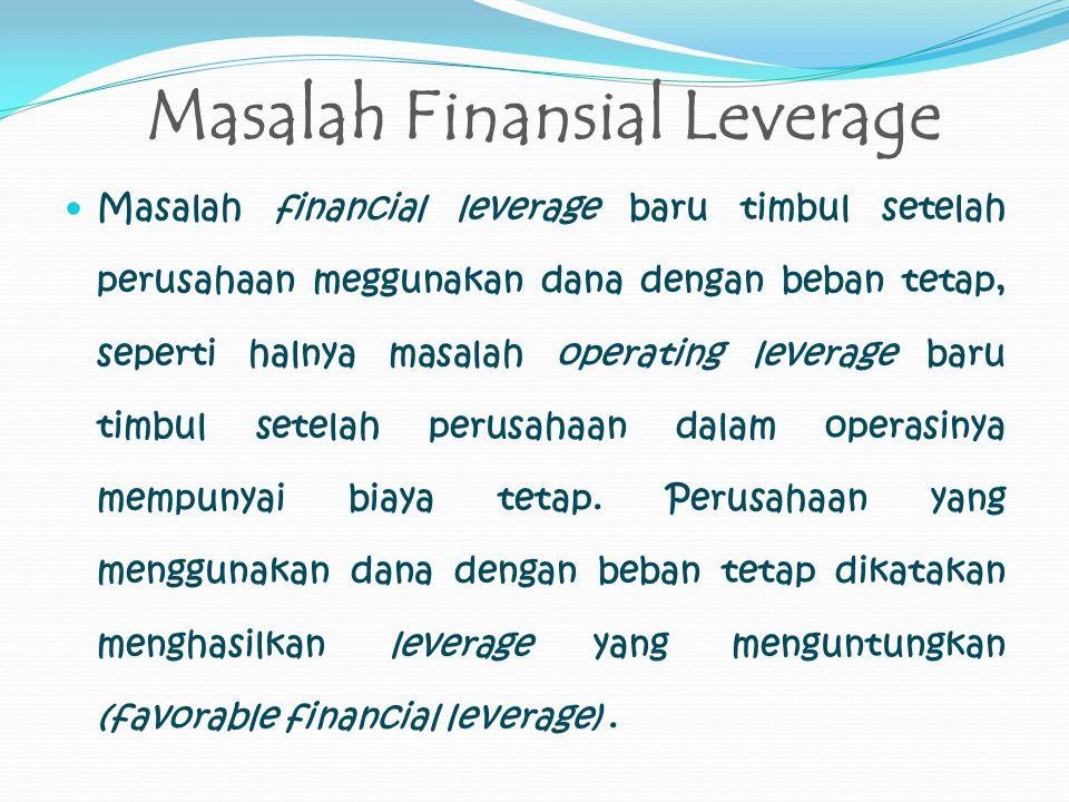 Masalah Finansial Leverage