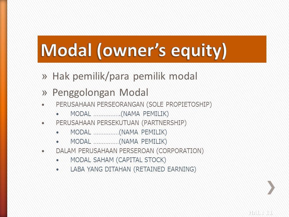 Modal (owner's equity)