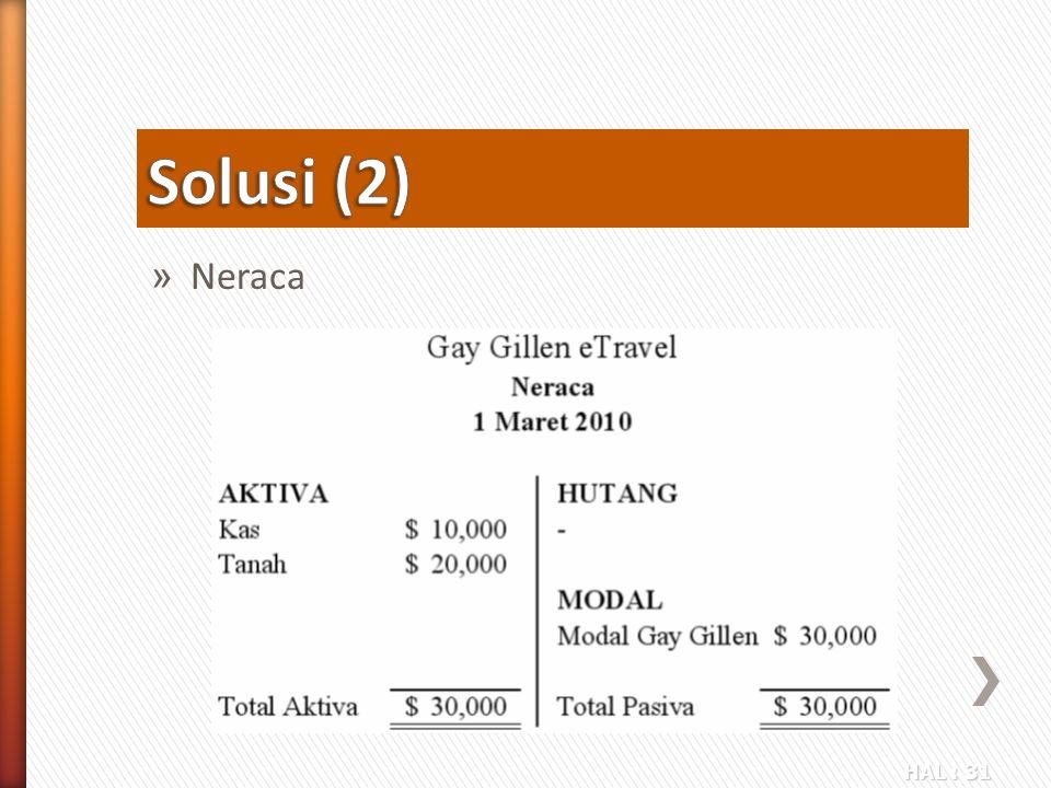 Solusi (2) Neraca