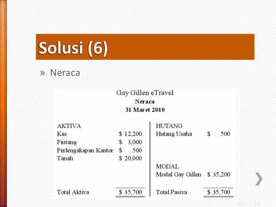 Solusi (6) Neraca