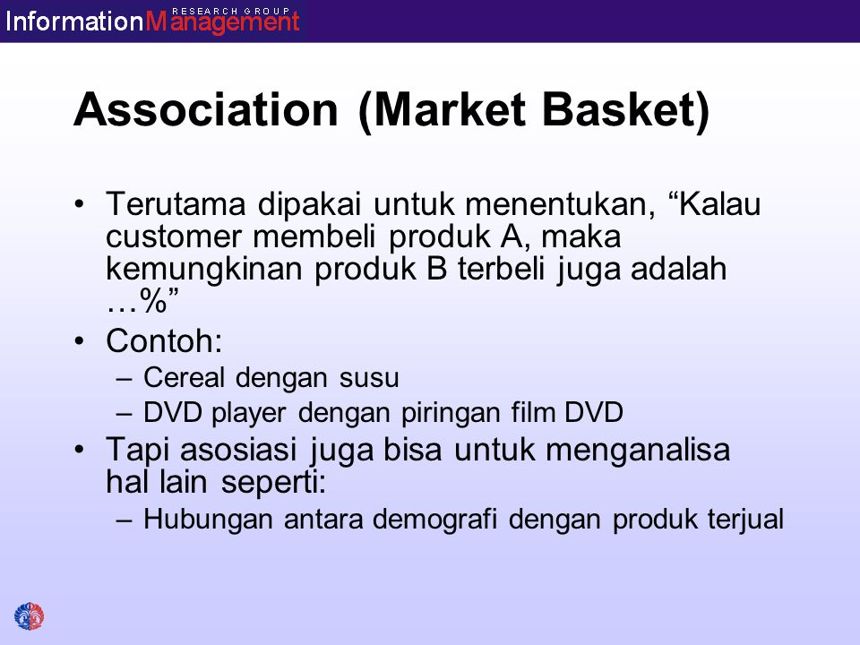 Association (Market Basket)