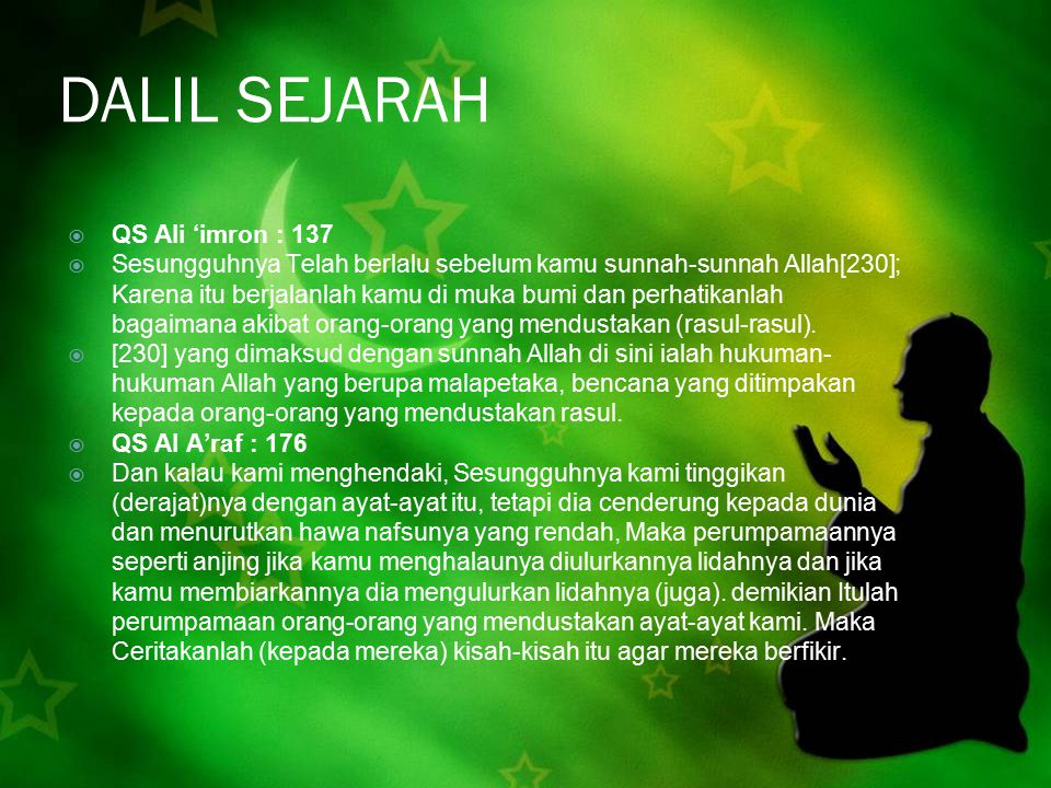 DALIL SEJARAH QS Ali 'imron : 137