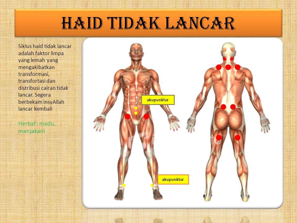 HAID TIDAK LANCAR Herbal : madu, manjakani