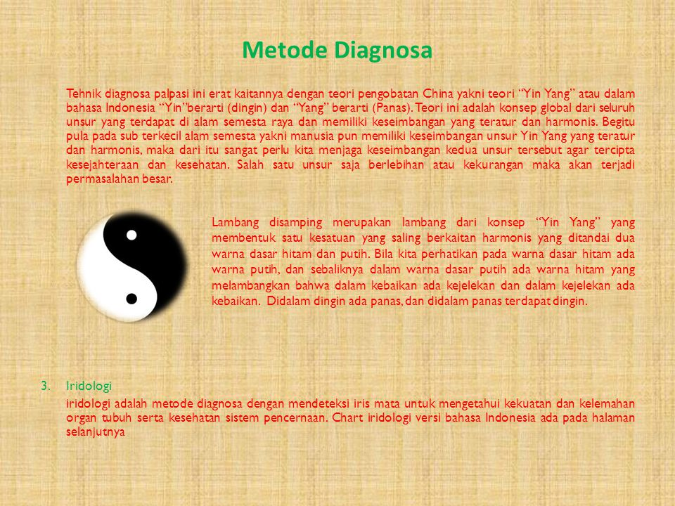 Metode Diagnosa