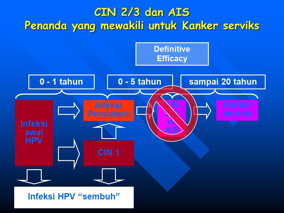 CIN 2/3 dan AIS Penanda yang mewakili untuk Kanker serviks