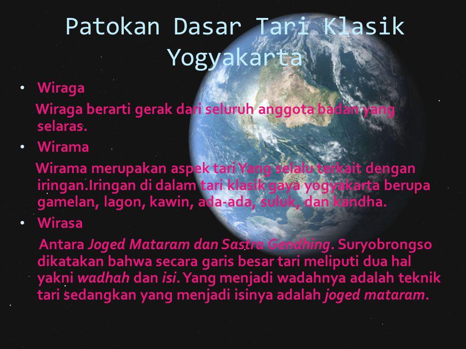 Patokan Dasar Tari Klasik Yogyakarta