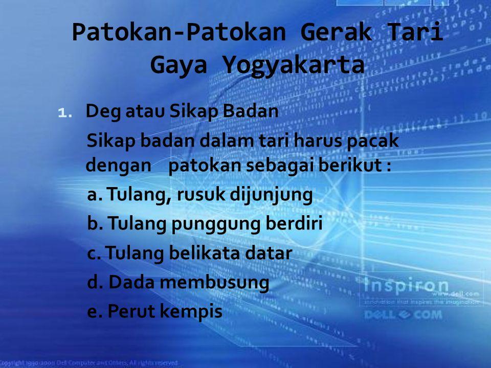 Patokan-Patokan Gerak Tari Gaya Yogyakarta