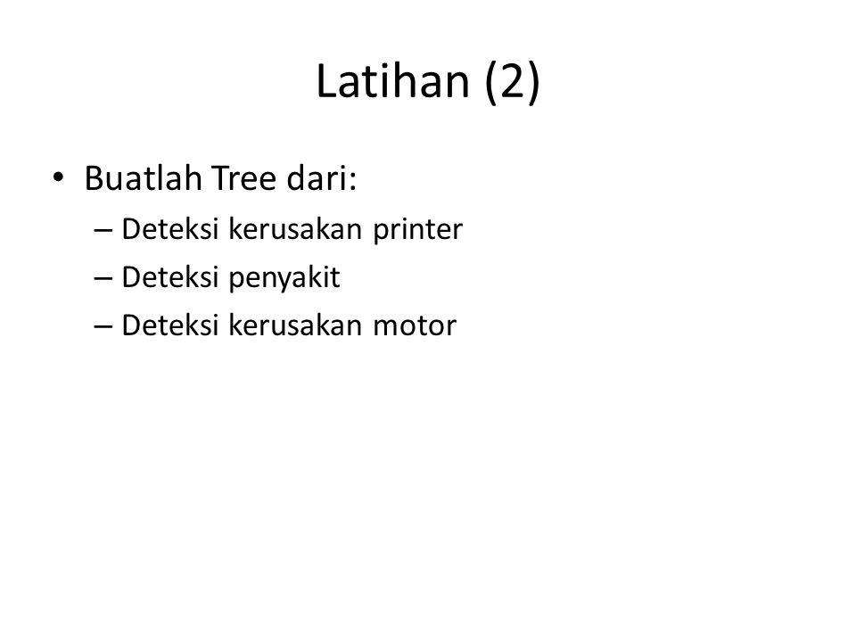 Latihan (2) Buatlah Tree dari: Deteksi kerusakan printer
