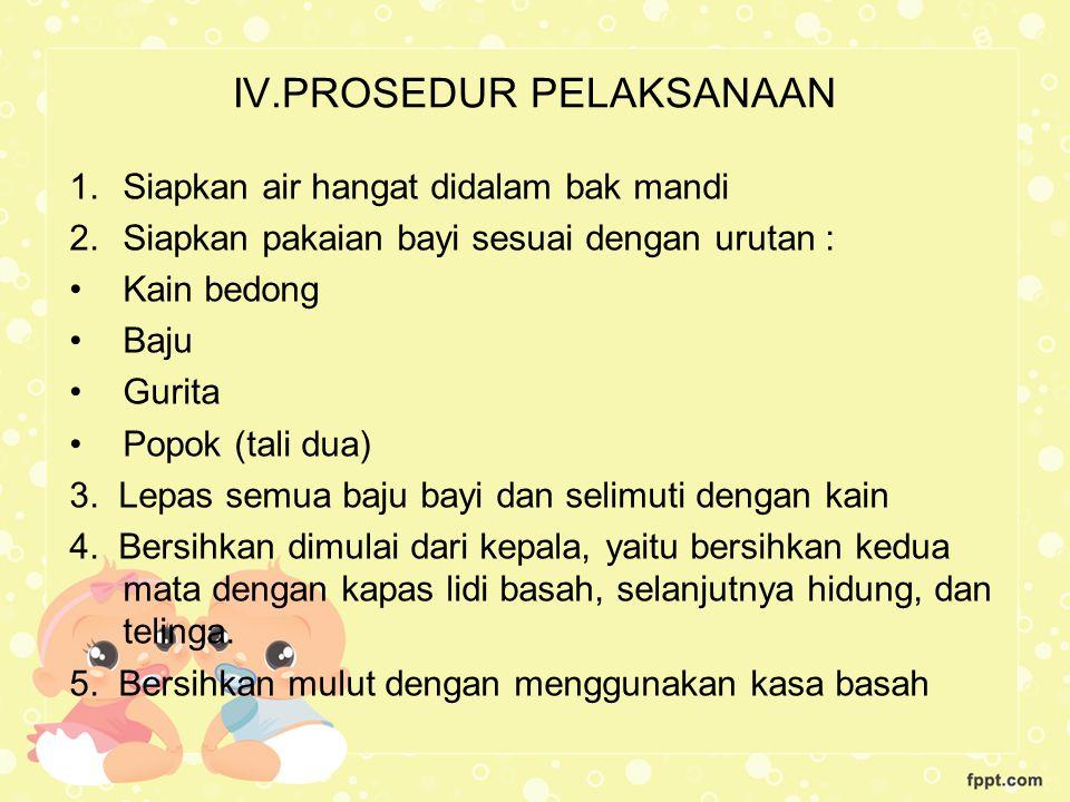 IV.PROSEDUR PELAKSANAAN