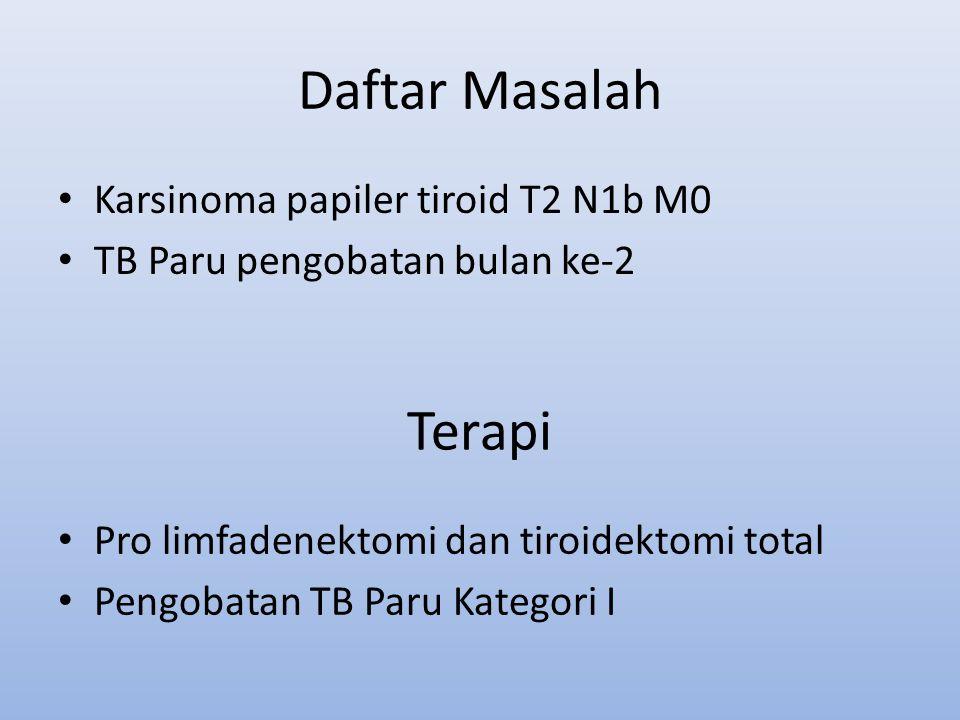 Daftar Masalah Terapi Karsinoma papiler tiroid T2 N1b M0