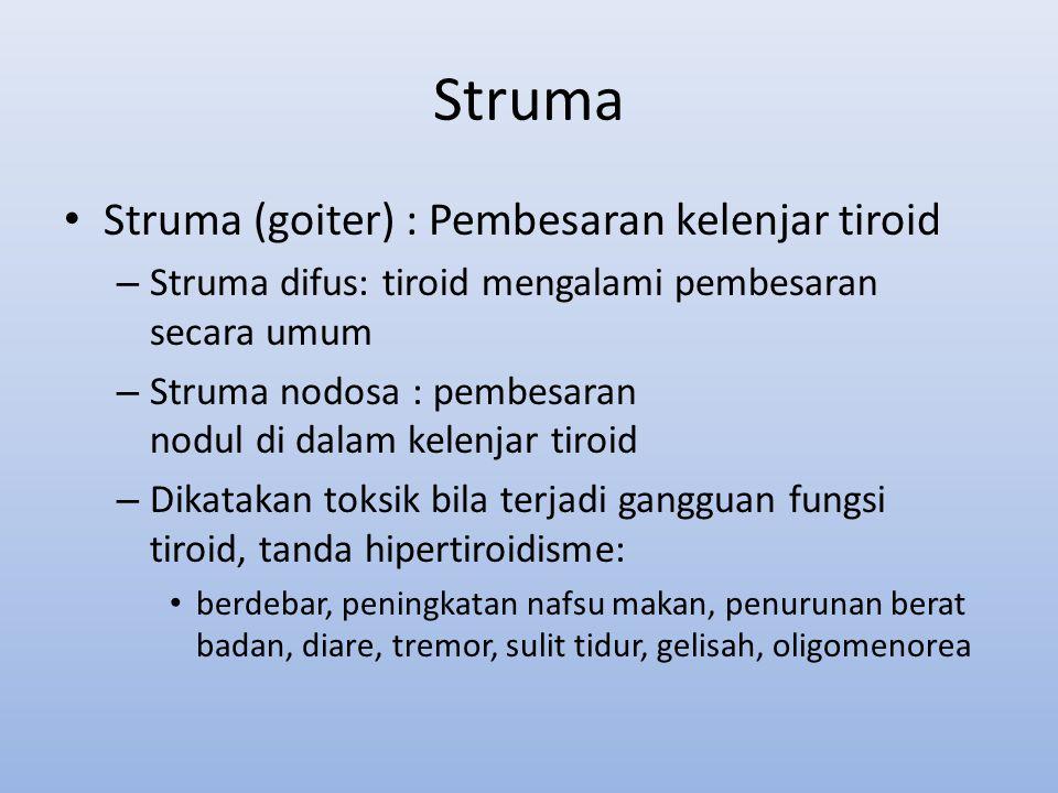 Struma Struma (goiter) : Pembesaran kelenjar tiroid