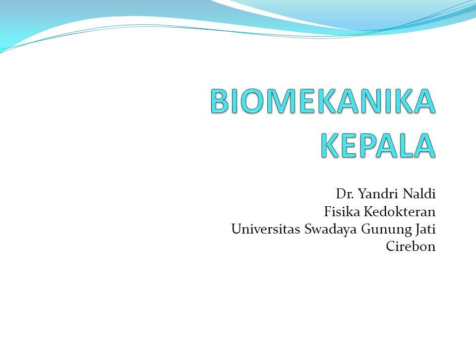 BIOMEKANIKA KEPALA Dr. Yandri Naldi Fisika Kedokteran