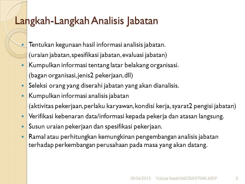 Langkah-Langkah Analisis Jabatan