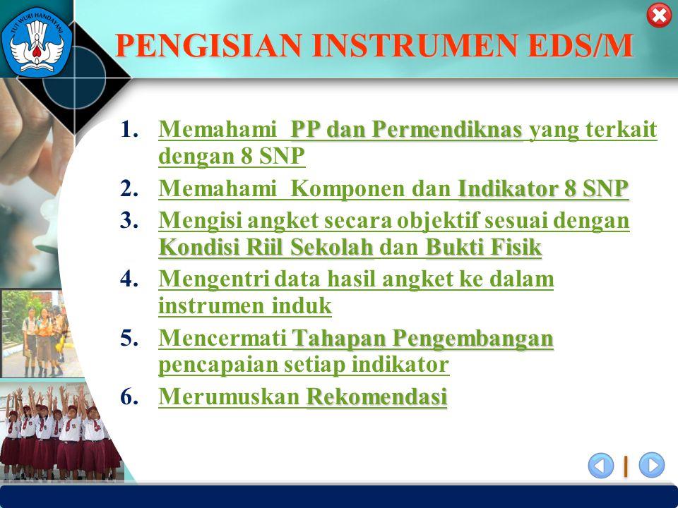 PENGISIAN INSTRUMEN EDS/M
