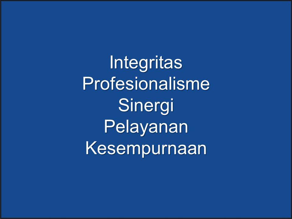 Integritas Profesionalisme Sinergi Pelayanan Kesempurnaan