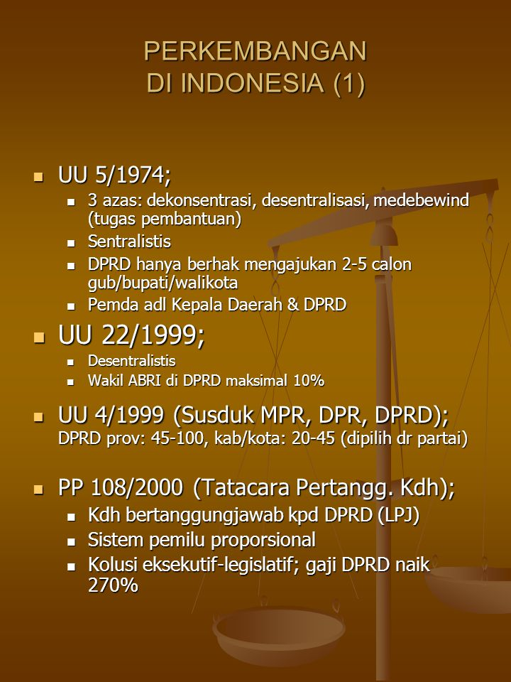 PERKEMBANGAN DI INDONESIA (1)