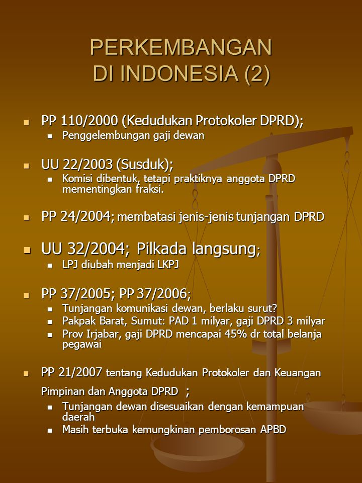 PERKEMBANGAN DI INDONESIA (2)