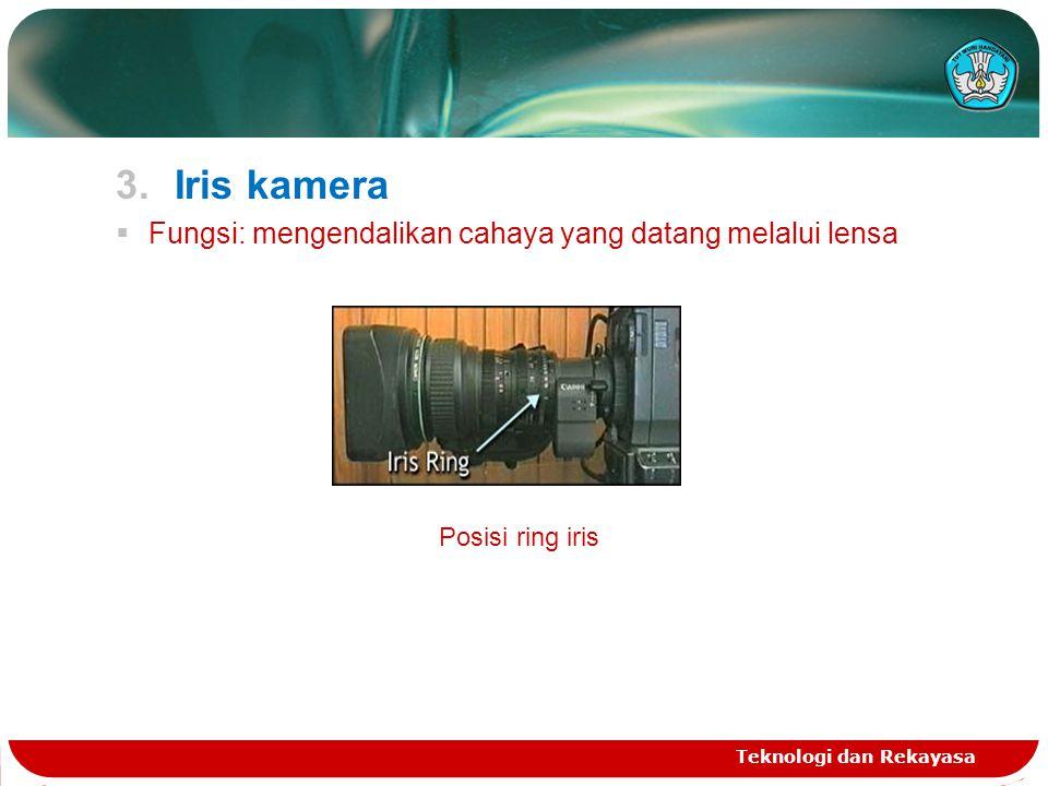 Iris kamera Fungsi: mengendalikan cahaya yang datang melalui lensa