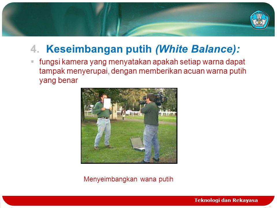 Keseimbangan putih (White Balance):