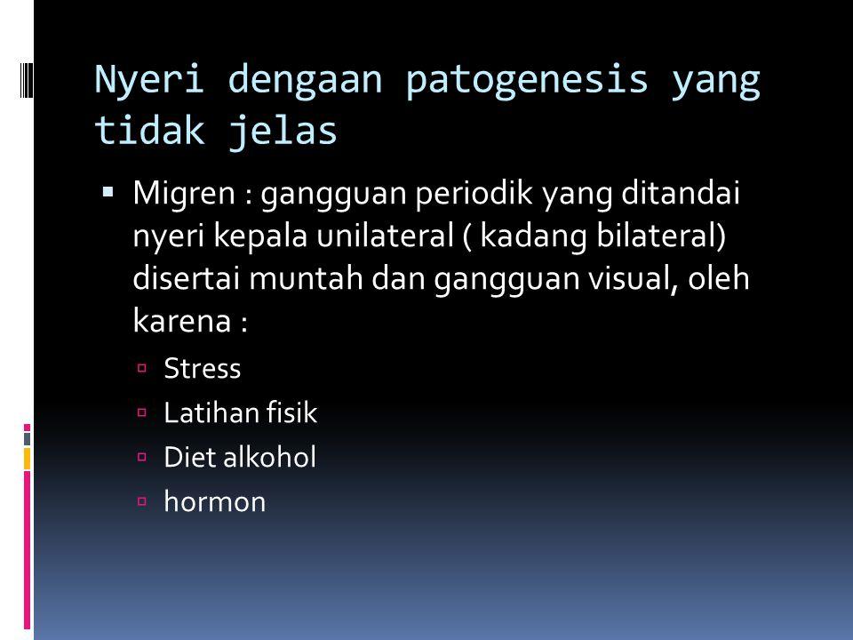 Nyeri dengaan patogenesis yang tidak jelas