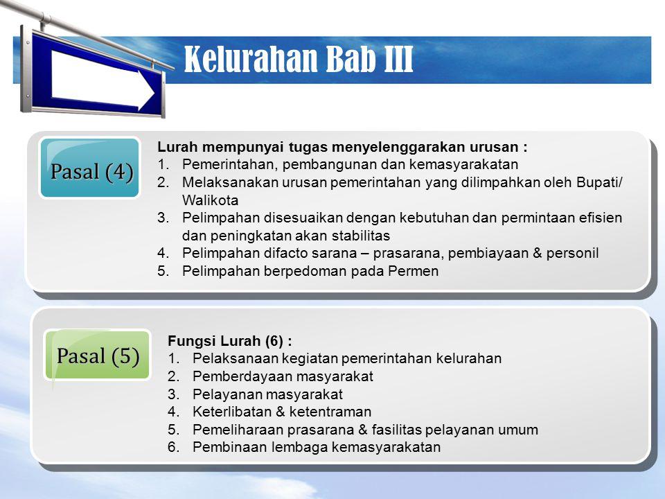 Kelurahan Bab III Pasal (4) Pasal (5)