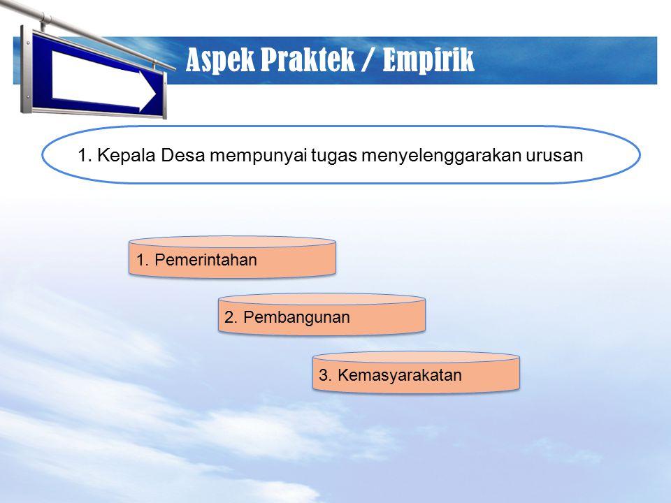 Aspek Praktek / Empirik