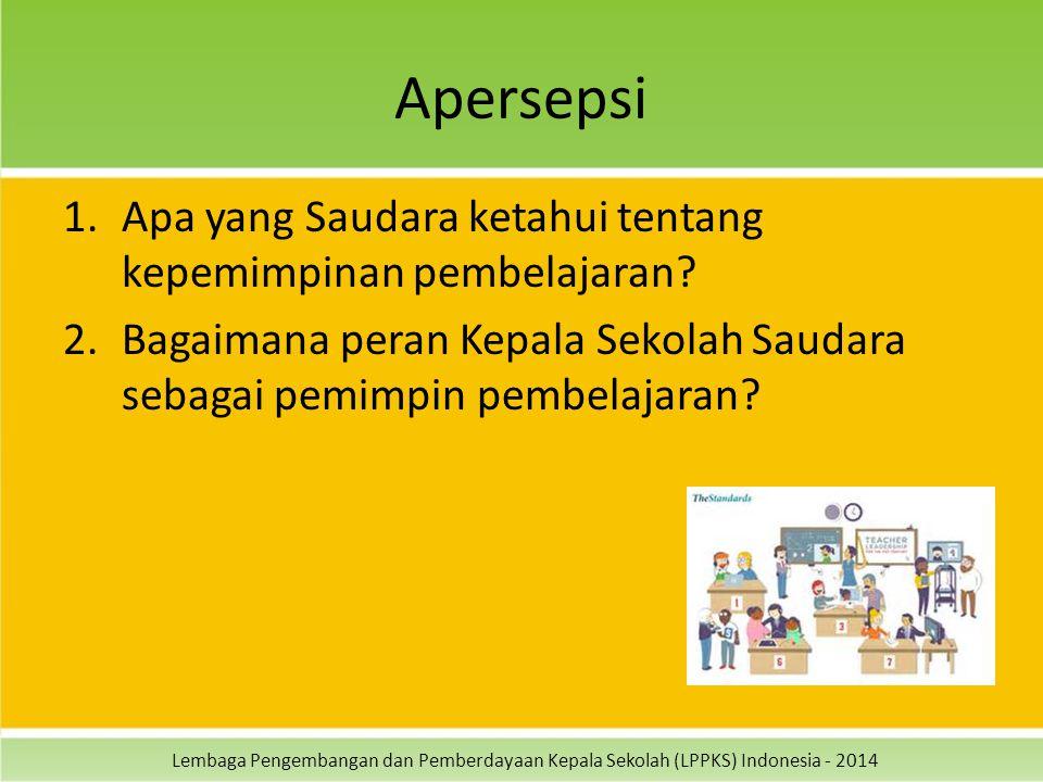 Apersepsi Apa yang Saudara ketahui tentang kepemimpinan pembelajaran