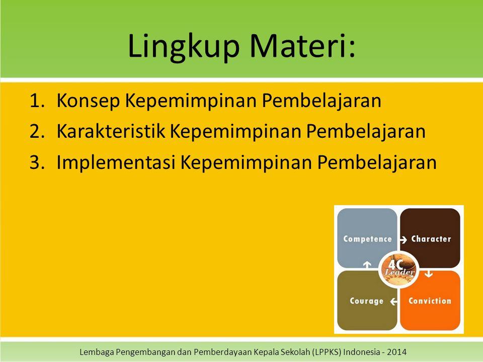 Lingkup Materi: Konsep Kepemimpinan Pembelajaran