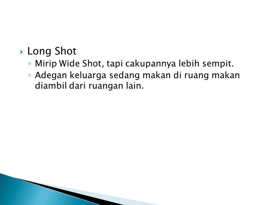 Long Shot Mirip Wide Shot, tapi cakupannya lebih sempit.