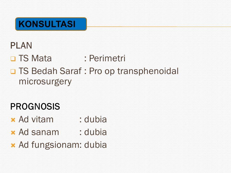 TS Bedah Saraf : Pro op transphenoidal microsurgery