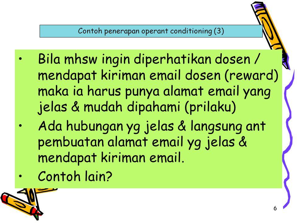 Contoh penerapan operant conditioning (3)