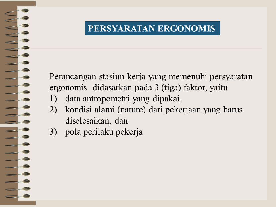 PERSYARATAN ERGONOMIS