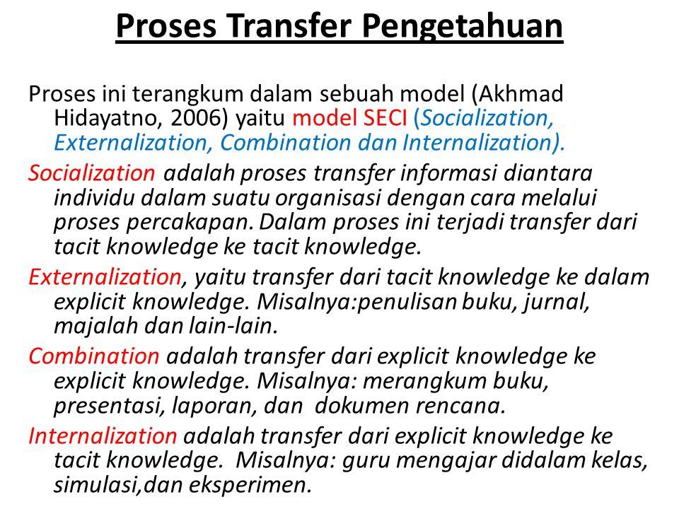 Proses Transfer Pengetahuan