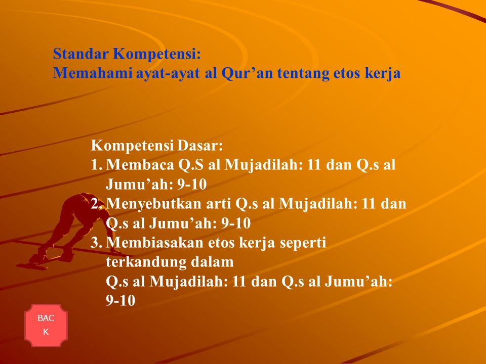Memahami ayat-ayat al Qur'an tentang etos kerja