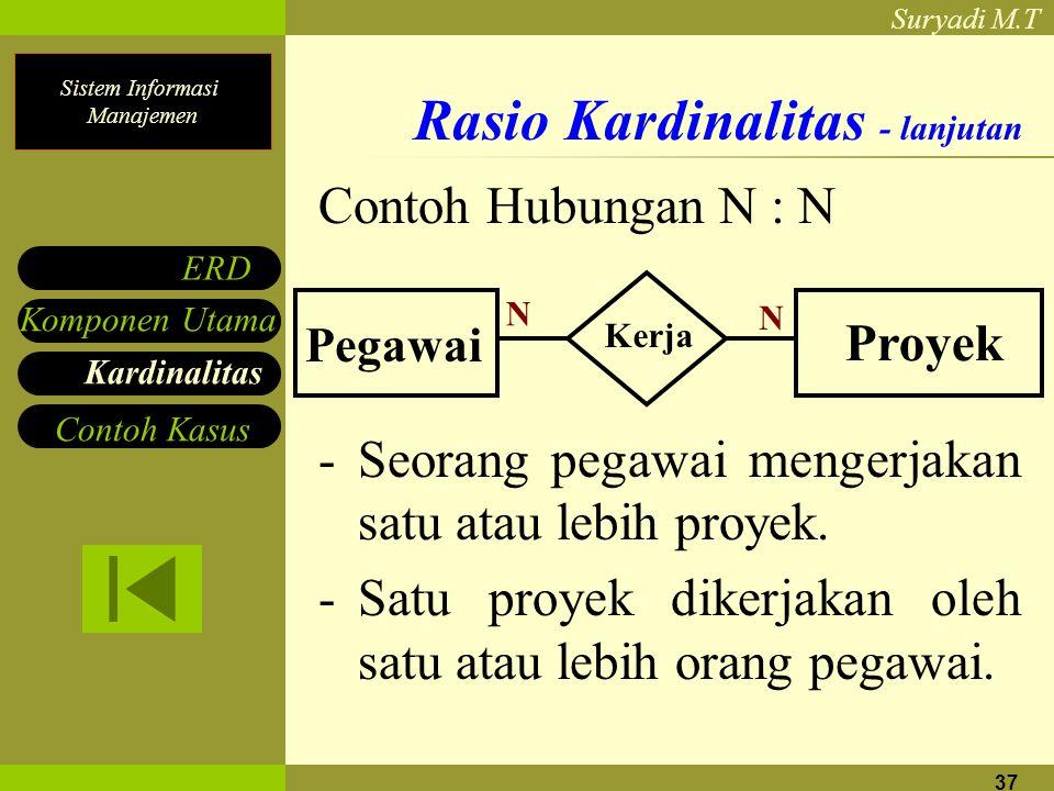 Rasio Kardinalitas - lanjutan