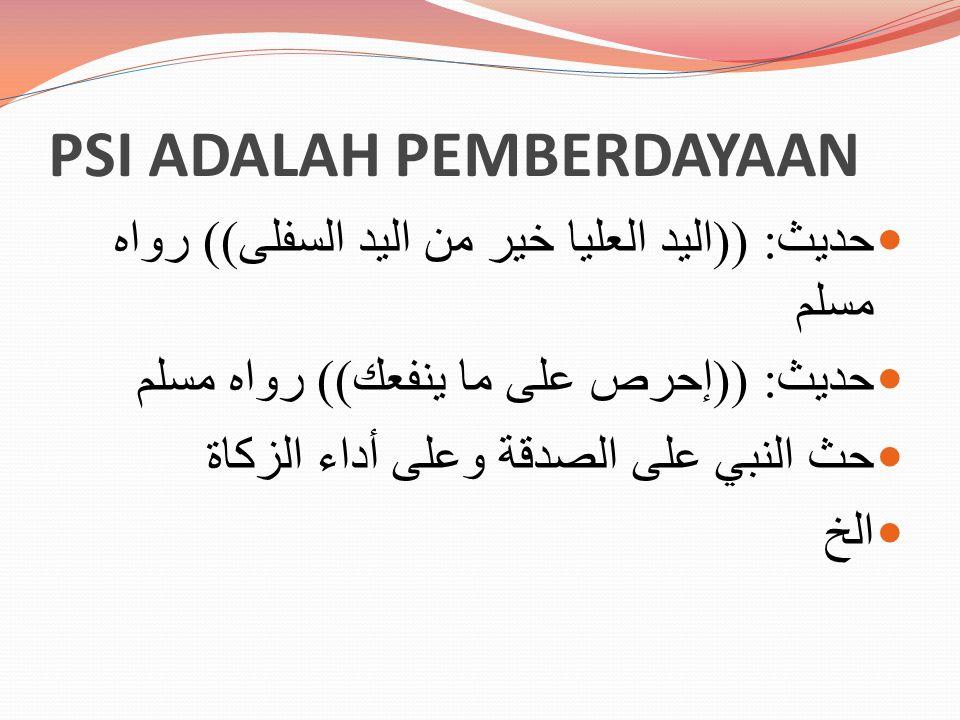 PSI ADALAH PEMBERDAYAAN