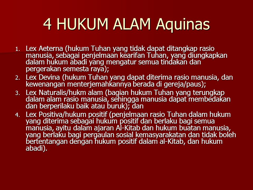 4 HUKUM ALAM Aquinas