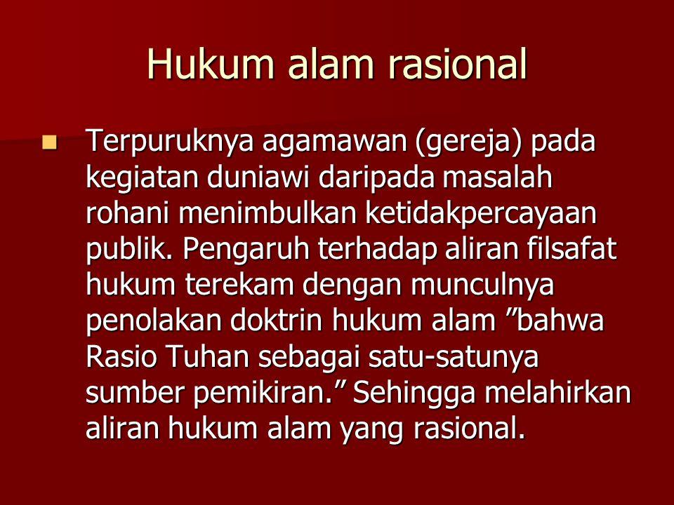 Hukum alam rasional