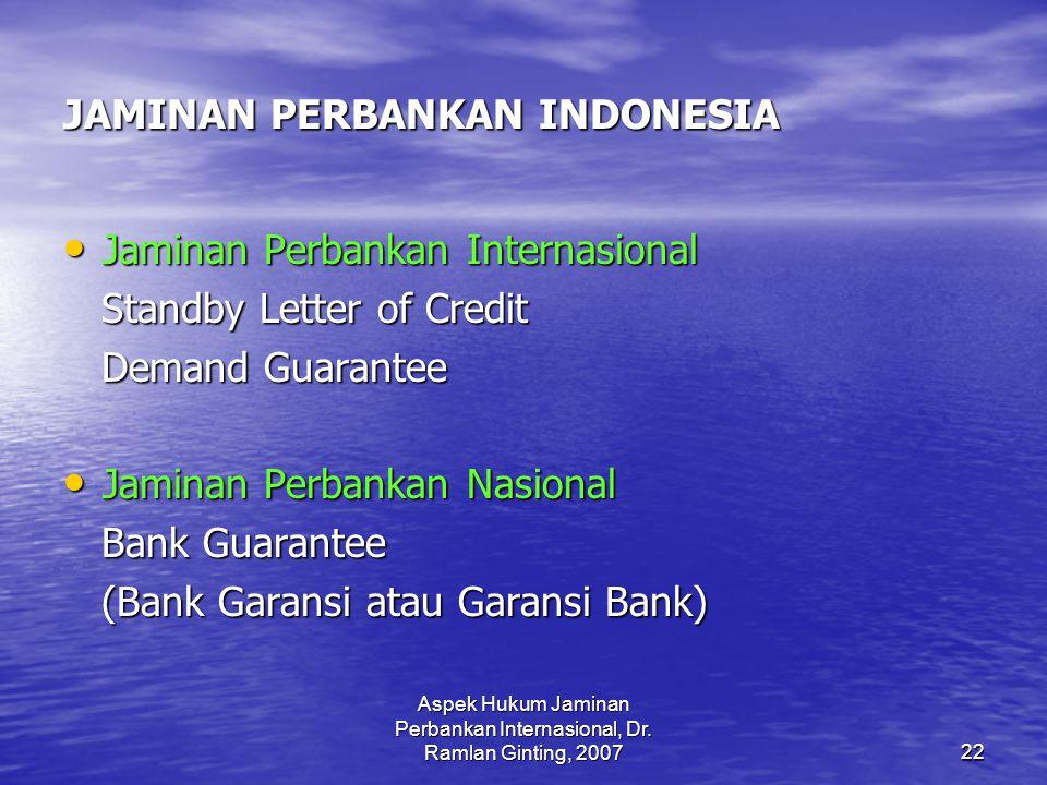 JAMINAN PERBANKAN INDONESIA