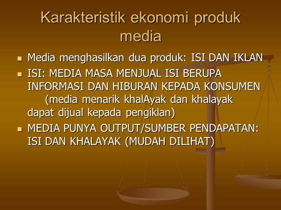 Karakteristik ekonomi produk media
