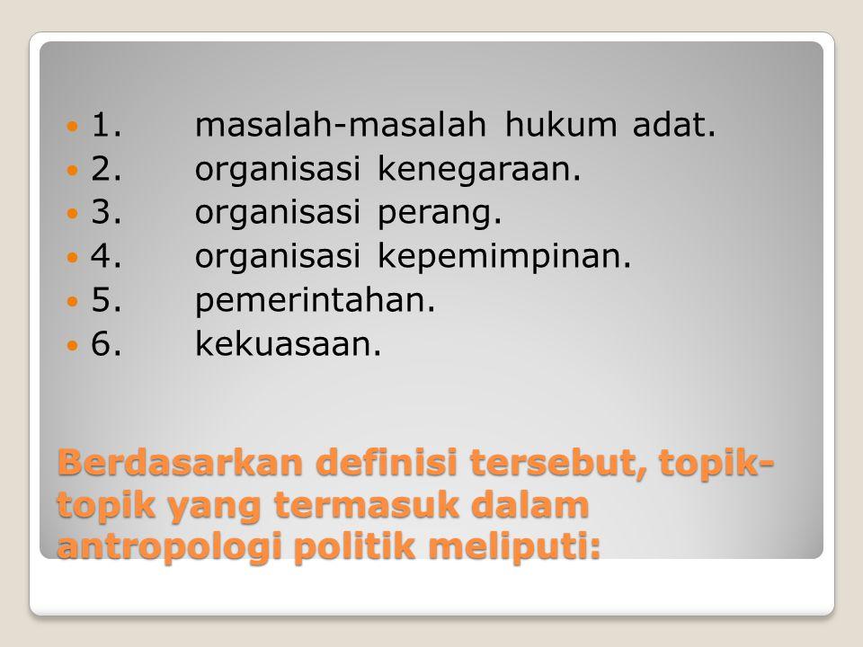 1. masalah-masalah hukum adat.