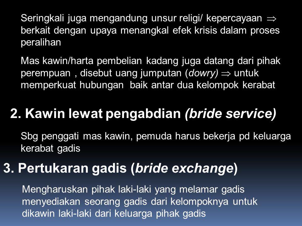 2. Kawin lewat pengabdian (bride service)
