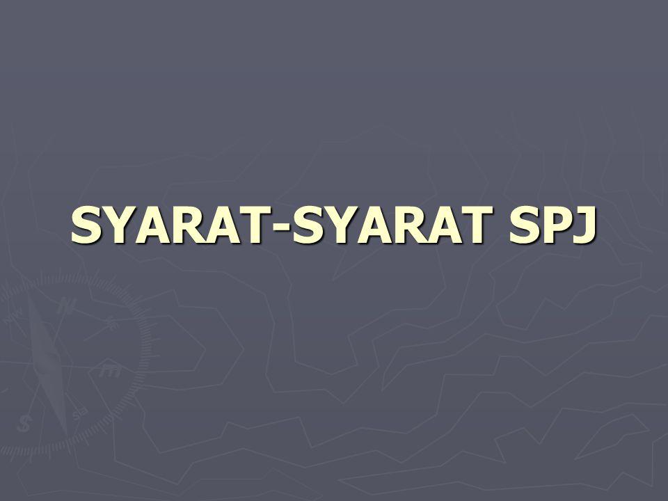 SYARAT-SYARAT SPJ