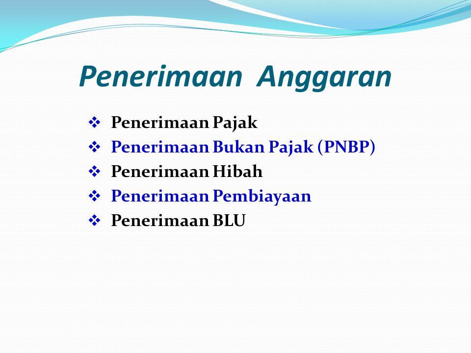 Penerimaan Anggaran Penerimaan Pajak Penerimaan Bukan Pajak (PNBP)