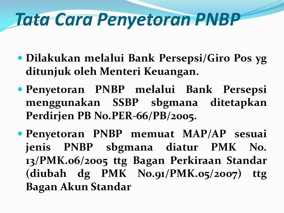 Tata Cara Penyetoran PNBP